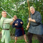 Friar Tuck, Robin and Little John
