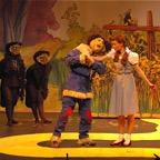 Scarecrow and Dorothy on The Yellow Brick Road